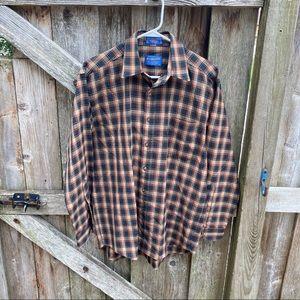 Vintage Pendleton virgin wool plaid button up sz M